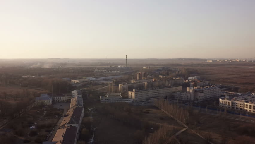 Aerial footage of Saint-Petersburg suburb Pushkin with university complex | Shutterstock HD Video #9281933