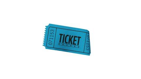 Isolated Blue Raffle Ticket Stub Loop