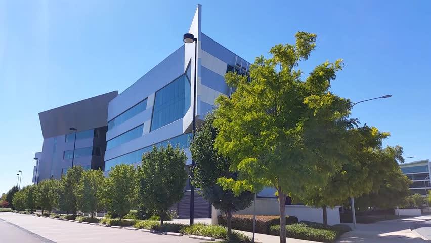 Modern Architecture Videos establishing shot of a modern architecture business building