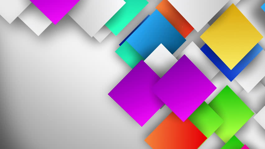 Abstract background with copyspace animated 3d geometric wall large colorful gradient squares flow on background hd stock video clip voltagebd Images