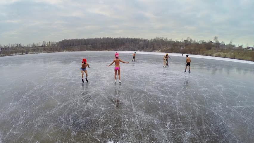 Ice skate naked