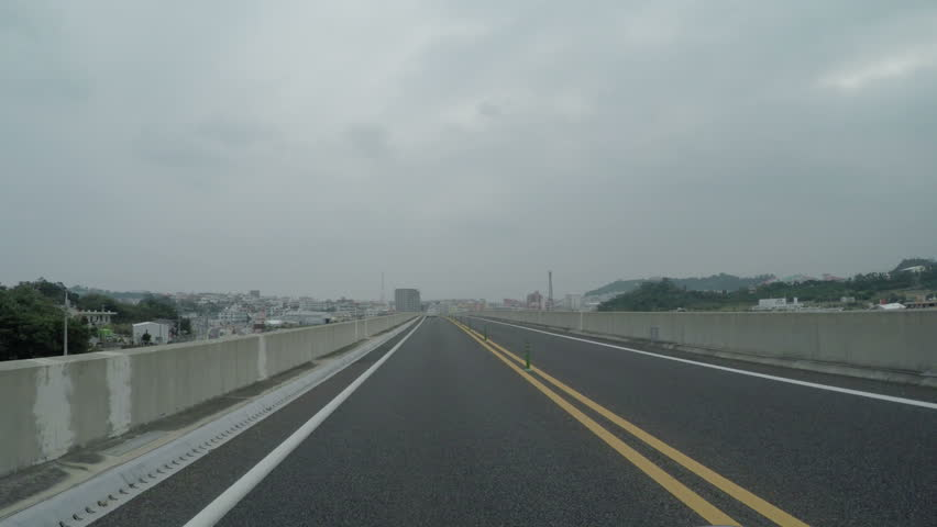 Okinawa expressway royalty-free stock footage