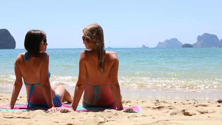 Blonde Girls At The Beach
