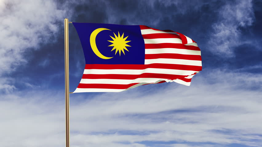 Hd 1080P Clip With A Slow Motion Waving Flag Of Malaysia -8089