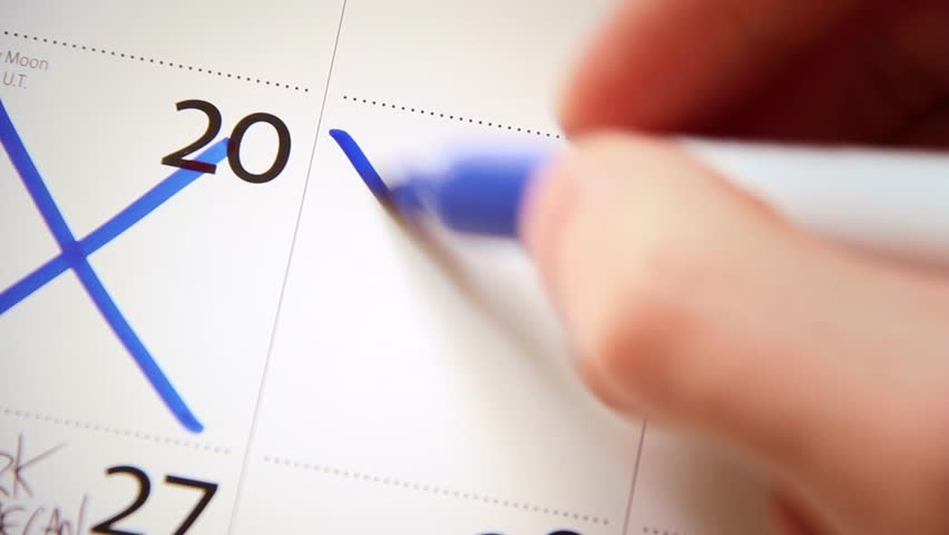Calendar / Diary - Close Up - Crossing Off Days 02 | Shutterstock HD Video #9572366