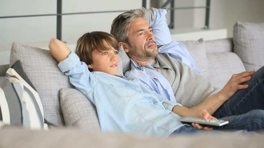 Resultado de imagem para dad watching tv