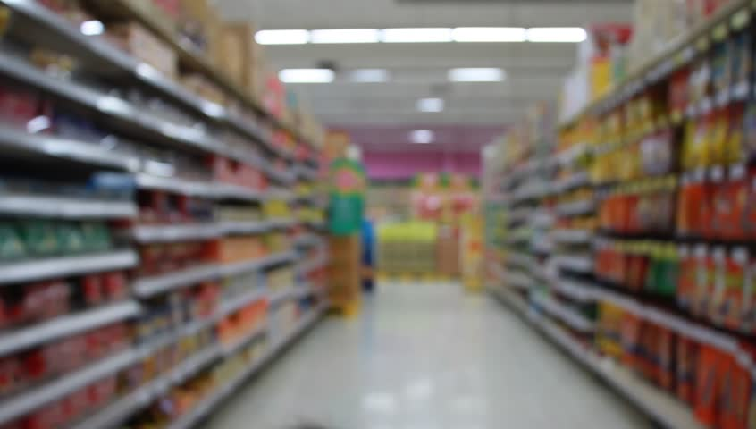 Blur image shopping moving through store | Shutterstock HD Video #9607730
