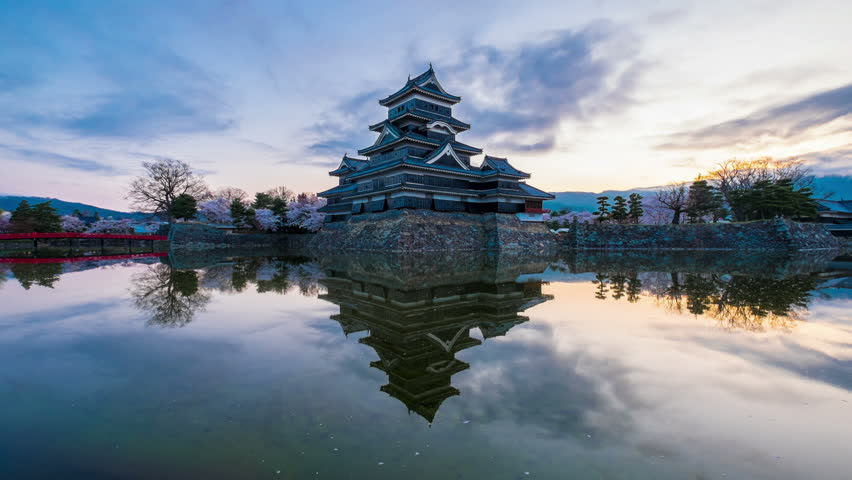 Matsumoto, JAPAN - APRIL 2015 - Matsumoto Castle on April 12, 2015 in Matsumoto, Japan. Matsumoto Castle is one of the top tourist spot in Matsumoto. With over 3 million people are visiting  each year