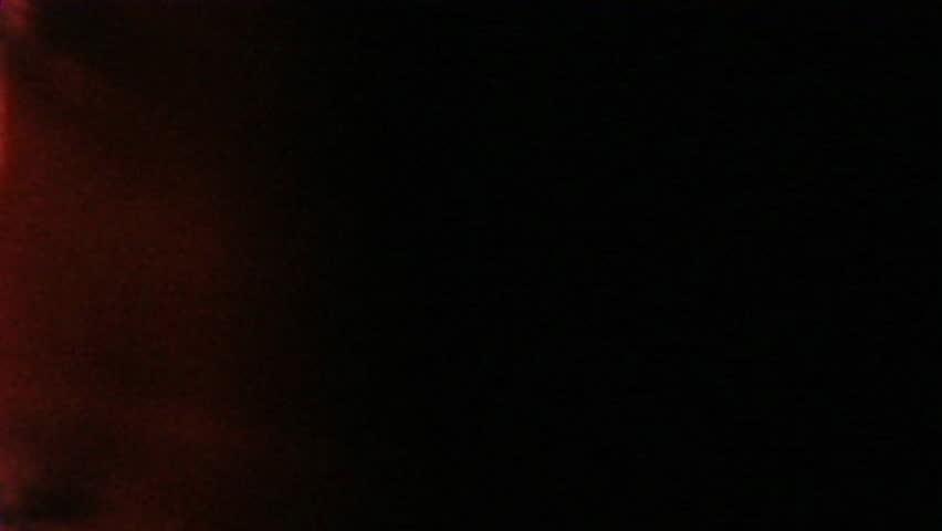 Funky Orange Black Vintage Old Film Title Graphic Leader 8mm Distressed Grunge Retro. Old and original Super 8, 8mm, 16mm, film leader featuring authentic grunge texture, flicker grain dus tscratches