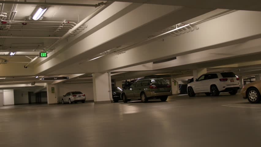 An Underground Parking Lot Beneath Stock Footage Video 100 Royalty Free 9719090 Shutterstock