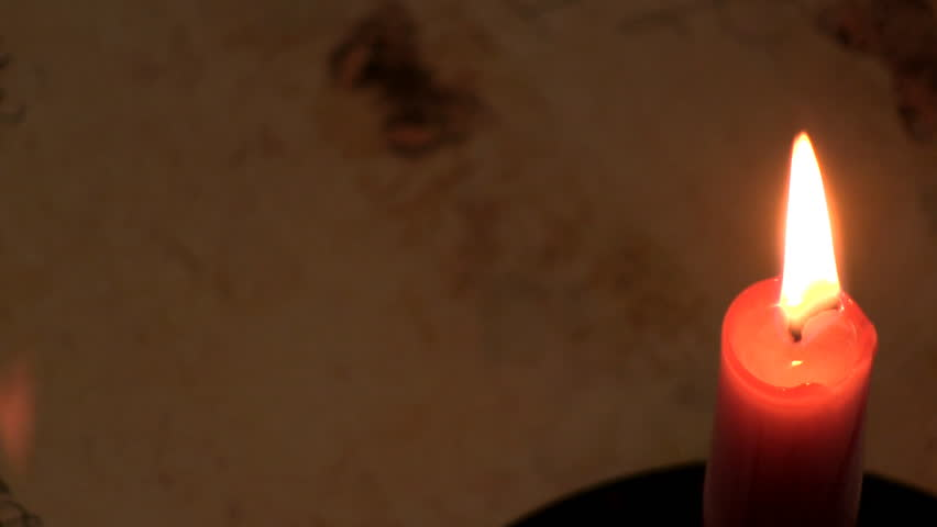 Finish writing by hand in candlelight, then blowing out the candle.