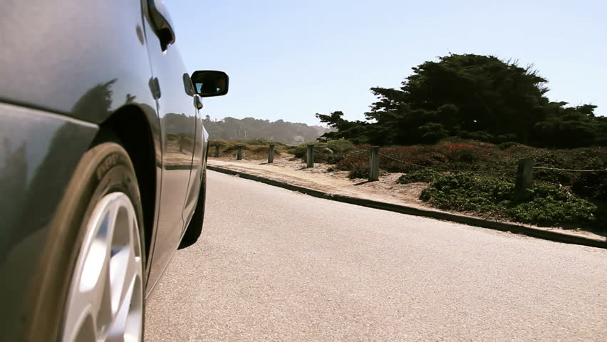 Car driving by Pebble Beach (HQ 1080p)