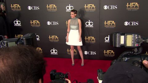 Los Angeles, CA - November 14,2014: Kristen Stewart at Hollywood Film Awards 2014, Hollywood Palladium