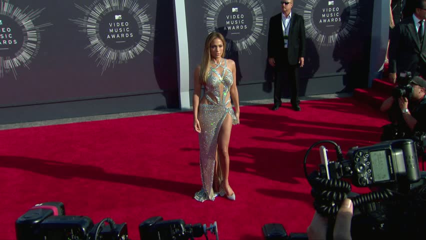 Inglewood, CA - August 24,2014: Jennifer Lopez at MTV Video Music Awards 2014, The Forum