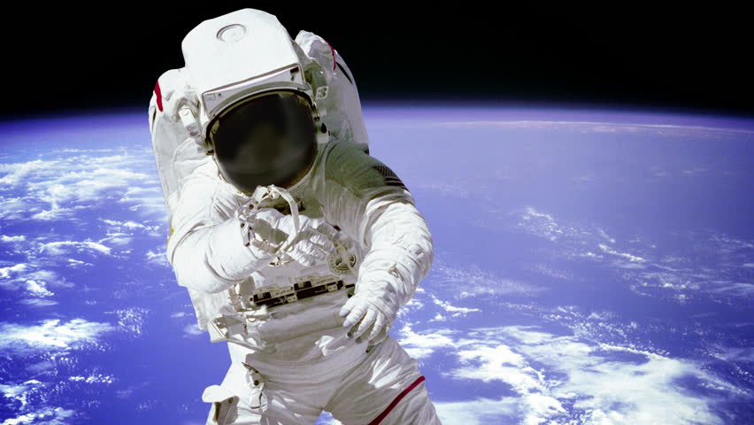 astronaut working in space - photo #11
