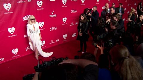 Los Angeles, CA - January 24,2014: Lady Gaga at MusiCares Person of the Year Tribute 2014, Los Angeles Convention Center