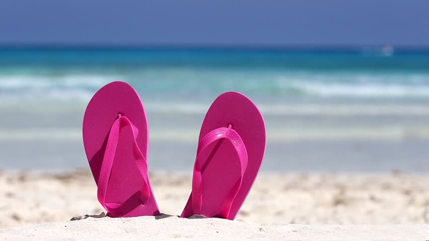 Pink Flip Flops On White Stock Footage Video 100 Royalty Free 9820700 Shutterstock