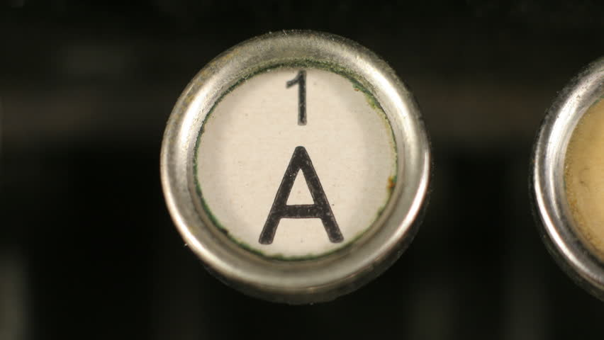 Close-up of the letters on an old typewriter