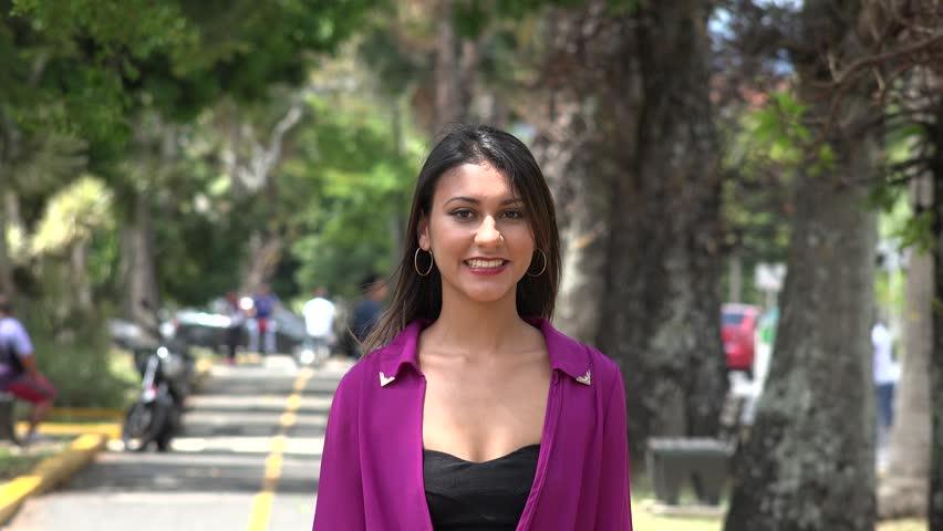 Happy Woman, Smiling Female, Walking in Park | Shutterstock HD Video #9823490