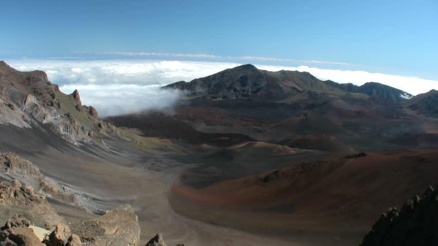 Koolau gap in haleakala national park maui hawaii stock footage crater haleakala in maui altitude of 10000 feet elevation hd stock video clip publicscrutiny Image collections