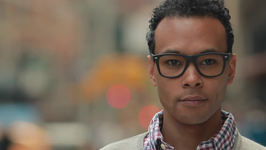 Young African Asian man in city  smile happy face portrait | Shutterstock HD Video #9925580