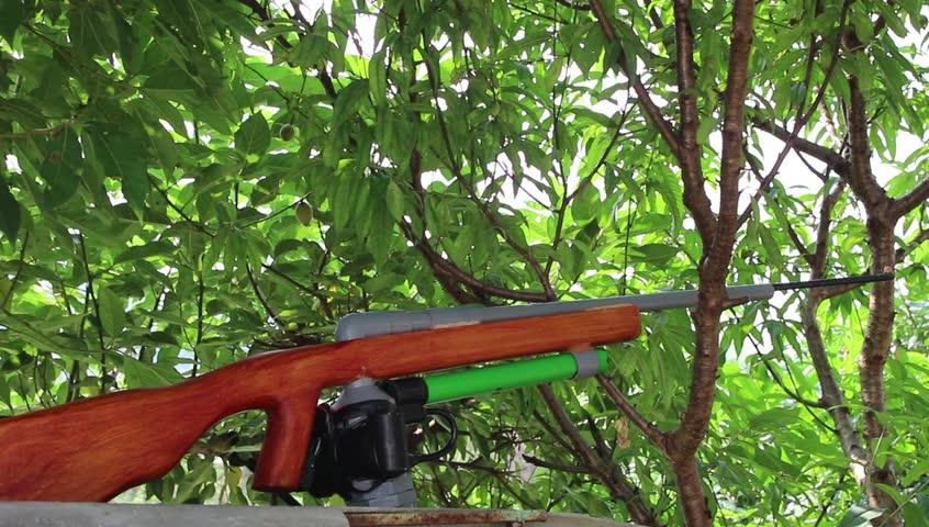 Vietnam Treehouse Part - 48: HAI DUONG, VIETNAM, April, 12; Shooting A Gun, Sporting Gun On