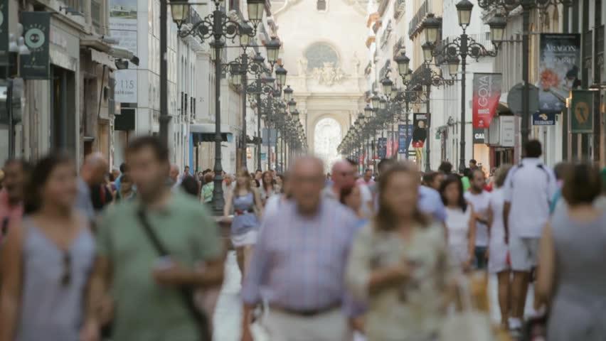 Street of the city of Saragossa , Spain | Shutterstock HD Video #9934640
