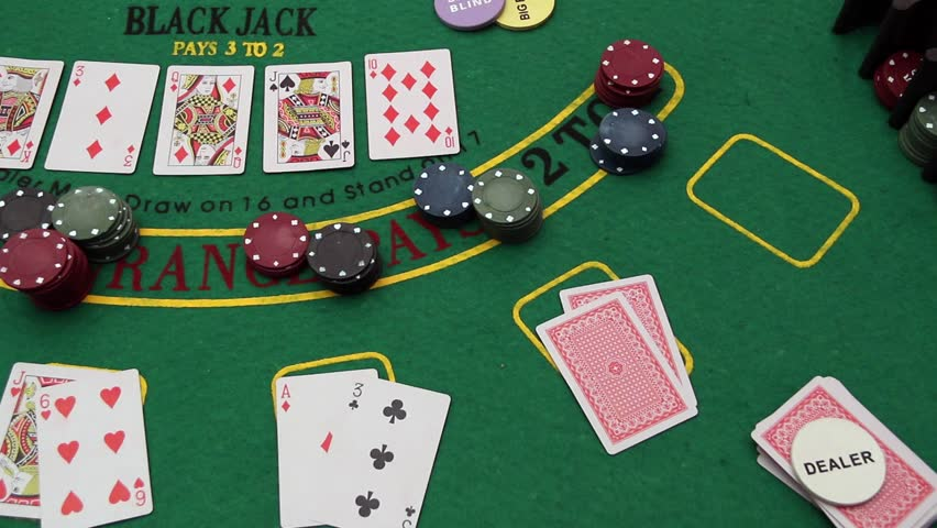 Poker Table   Texas Holdu0027Em Poker, Chips, Professional Dolly Shot.Casino.  Poker Playing With Chip. Green Poker Table   Texas Holdu0027Em Poker Game,  Gambling, ...
