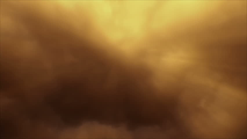 Seamlessly looping motion background with golden clouds and shafts of sunlight penetrating. Clouds shot in 1920 x 1080p widescreen.